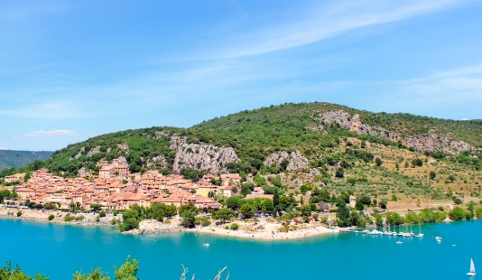 View on a French village at Lac-saint-Croix, Provence. No sharpening applied.